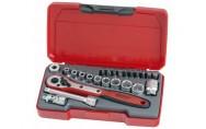 """Hylsyavainsarja, ¼"""" □-kiinnitys Teng Tools T1424"""