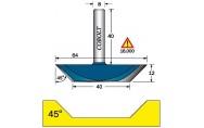 Pohjaleikkaava viistejyrsin 45°, D-64 mm, Cobolt
