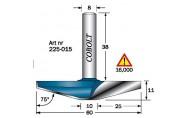 Friisi- / muotojyrsinterä ovinpeileihin, Cobolt 225-015