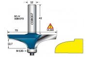Ellipsiprofiilijyrsinterä ohjainlaakerilla, Cobolt 338-070